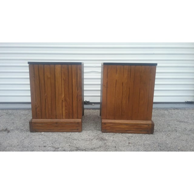 A. Brandt Ranch Oak Nightstands - A Pair - Image 6 of 11