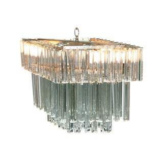 Mid-Century Crystal Chandelier