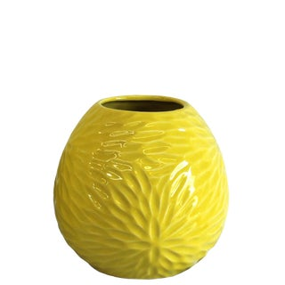 Yellow Feathered Sunburst Vase