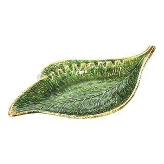 Mid-Century Pottery Leaf Tray