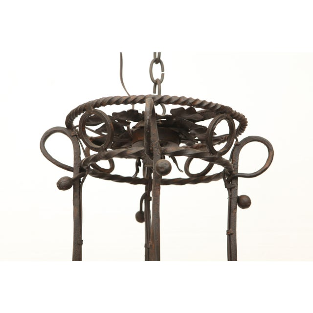 1940's Wrought Iron Chandelier - Image 8 of 8