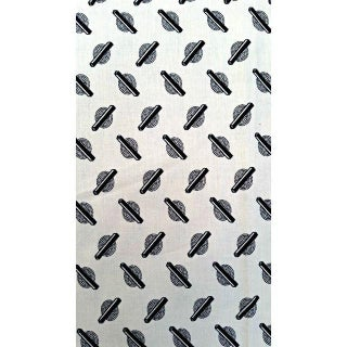 Moda Black & Off White Fabric - 1.5 Yards