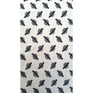 Moda Black & Off White Fabric - 1.5 Yards