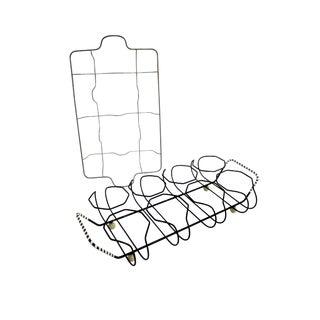 Modernist Industrial Atomic Glass Caddies - A Pair