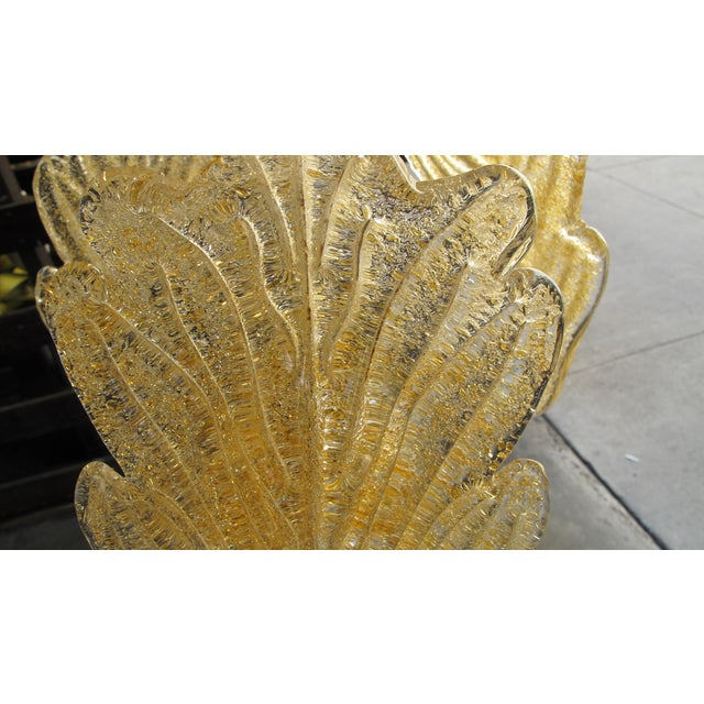 Hollywood Regency Gold Murano Glass Pendant - Image 3 of 5