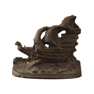Cast Iron Ship Bookend
