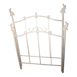 Corsican Bunny Finial Wrought Iron Headboard & Footboard