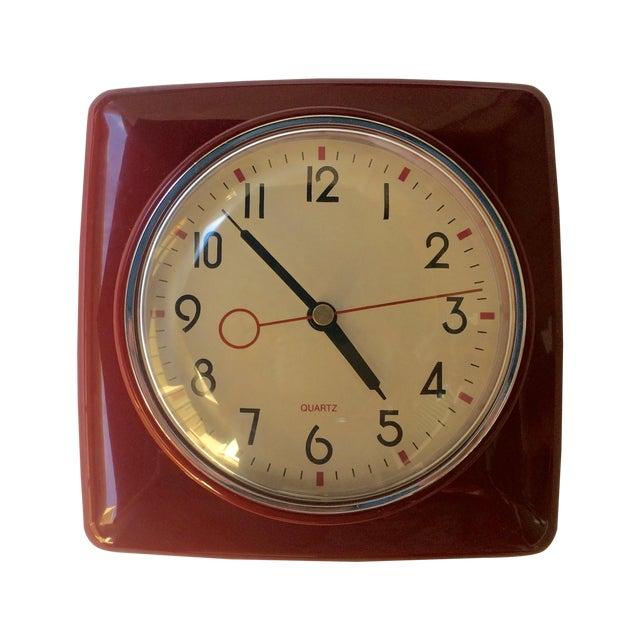 Mid Century Style Wall Clock - Image 1 of 3