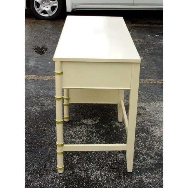 Mid-Century Bamboo Style Desk - Image 5 of 8
