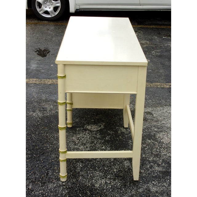 Image of Mid-Century Bamboo Style Desk