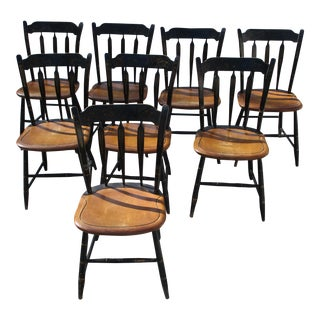 Hitchcock Arrow Back Stenciled Chairs - Set of 8