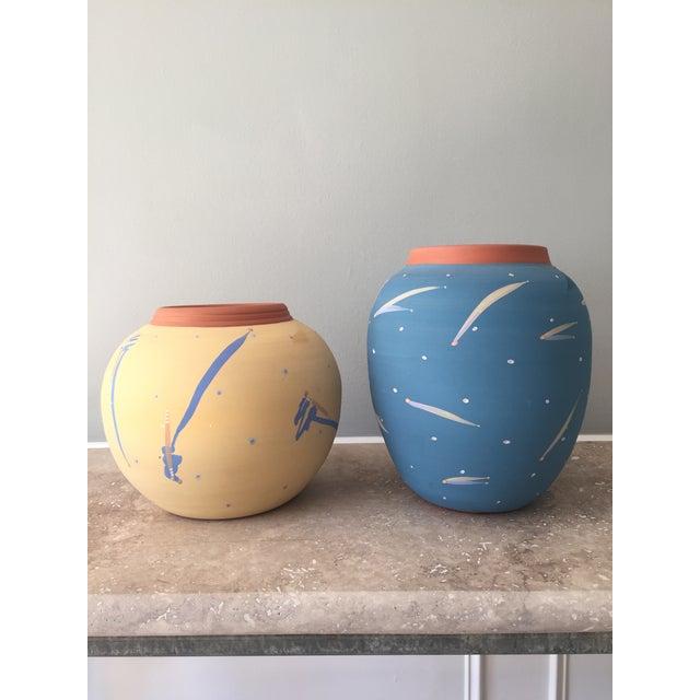 Blue Terra Cotta Decorative Vase - Image 5 of 6
