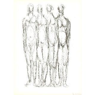 Rodolphe Raoul Ubac, Quatre Personnages, 1966 Lithograph