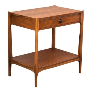 Walnut and Rosewood Mid-Century Side Table or Nightstand by Thomasville