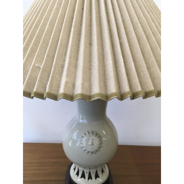 Glazed Ceramic Sun Lamp - Image 6 of 6