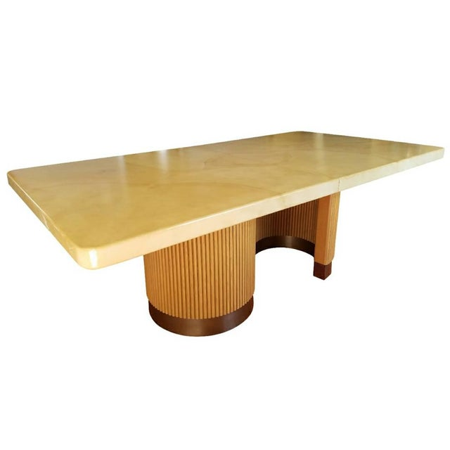 Image of Extendable Lacquered Dining Table Attributed to Steve Chase