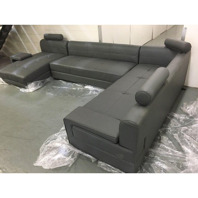 Modern Gray Sectional Sofa - Image 5 of 8
