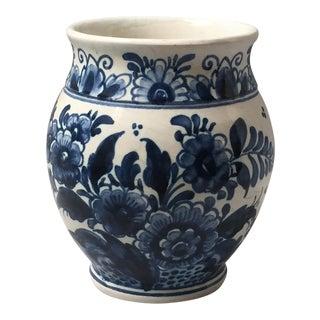 Delft Blue and White Signed Vase