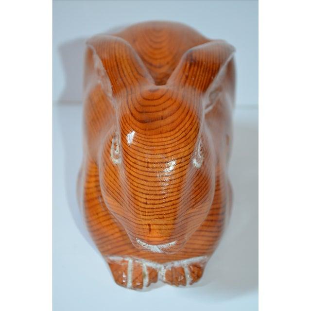 Image of Sarreid Vintage Hand Carved Wooden Rabbit