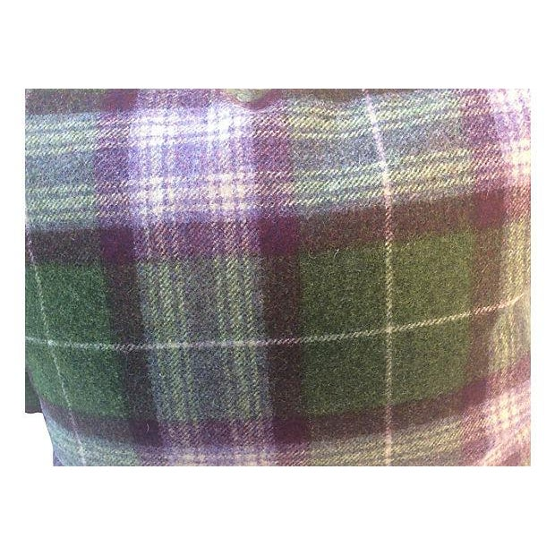 Scottish Plaid Wool Pillows - Pair - Image 2 of 4