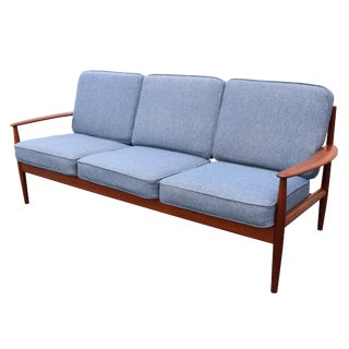 Vintage Danish Mid Century Modern Teak Sofa by Grete Jalk