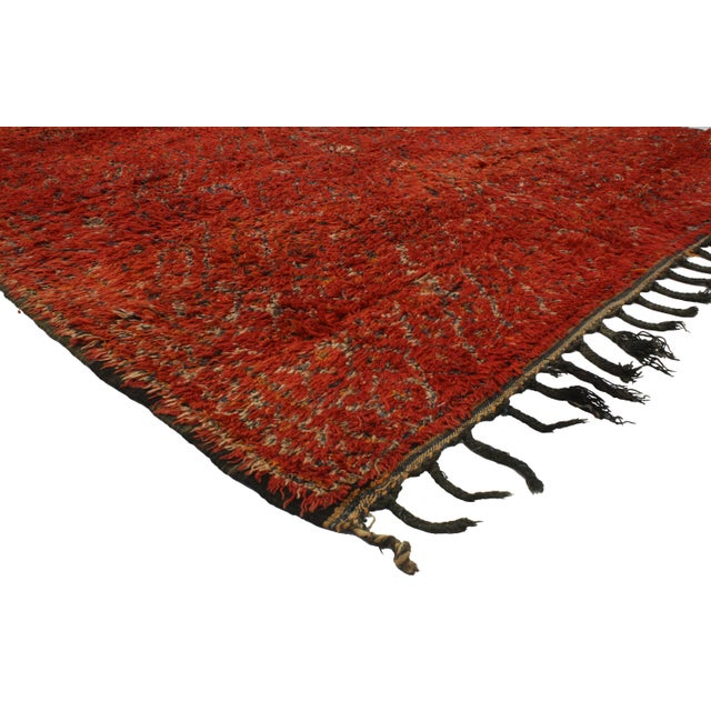 Berber Moroccan Rug with Tribal Flair -- 6'8 x 11'6 - Image 2 of 3