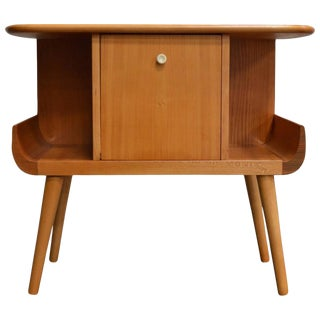 Swedish Mid-Century Golden Elm Side Table