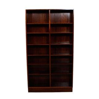 Danish Modern Rosewood Adjustable Shelves Bookcase
