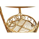 Image of Vintage Boho Chic Rattan Bar Cart