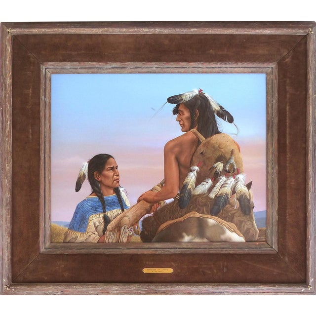 Image of Oil on Board by Western Artist Ron Owens