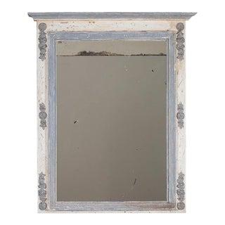 Antique French Louis XVI Painted Trumeau Mirror circa 1880 (36″ w x 48 1/2″ h)