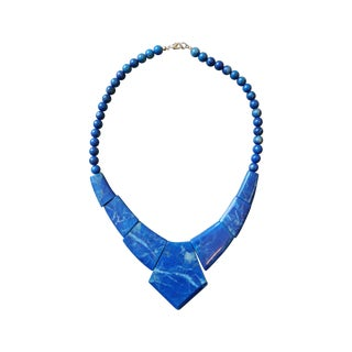 Vintage Lapis Collar Necklace