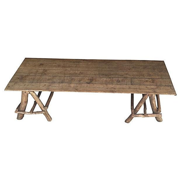 Image of French Rustic Farmhouse Style Table