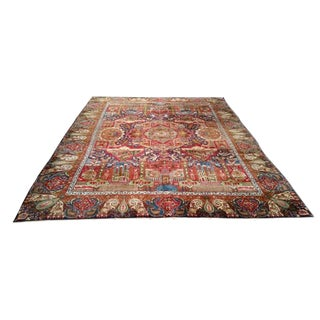 Persian Tehran Hand-Knotted Rug - 9′10″ × 12′10″
