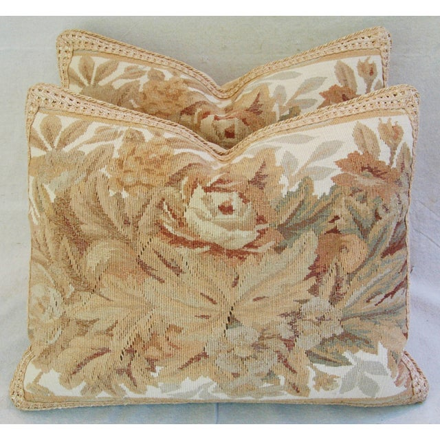Custom Aubusson Tapestry Pillows - A Pair - Image 8 of 11