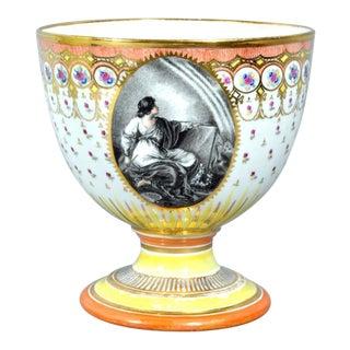Chamberlain Worcester Porcelain Neoclassical goblet, Humphrey Chamberlain.