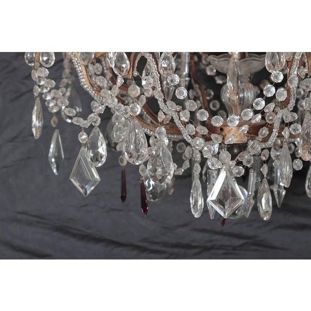 19th Century Italian 8-Light Crystal Chandelier - Image 5 of 10
