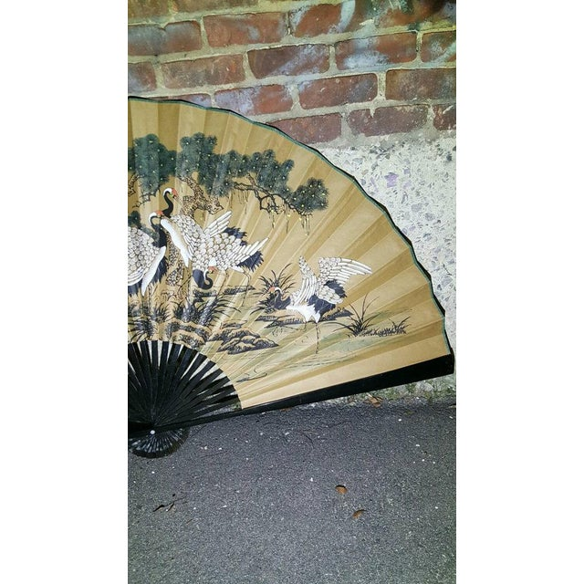 Antique 1930s Chinoiserie Wall Fan - Image 5 of 5