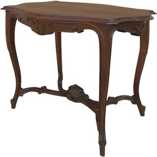 Antique French Louis XVI Walnut Carved Table