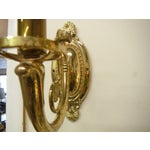 Image of Vintage Brass Electric Wall Sconces - Pair
