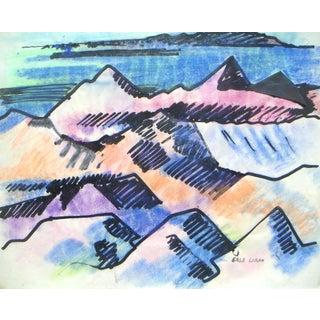 Pastel on Paper - Erle Loran California Modernist