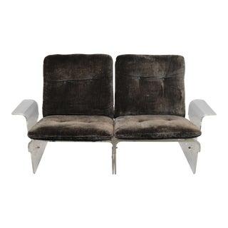 Milo Baughman Modernist Lucite Loose Cushion Love Seat