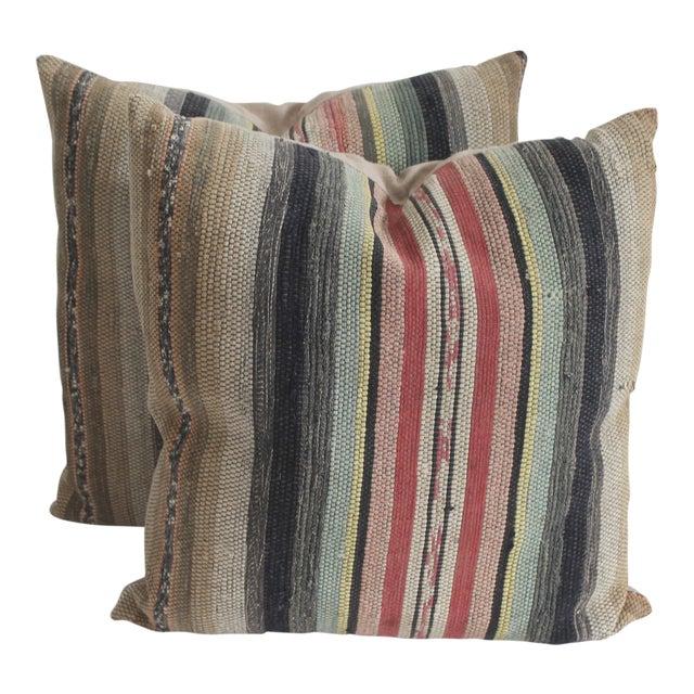 Rag Rug Pillows - Image 1 of 4