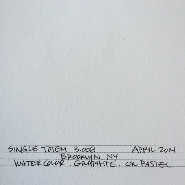 Image of Yellow Single Totem Painting on Paper