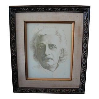 Vintage Drawing of Albert Einstein by Rs