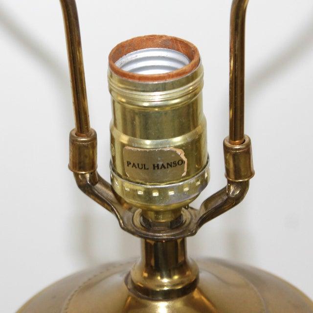 Image of Hollywood Regency Glass Lamp