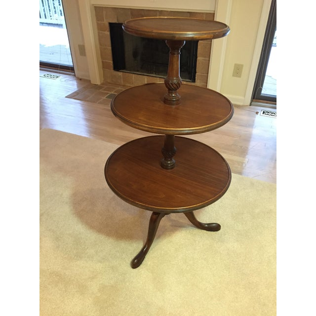 3-Tiered Butler Tripod Table - Image 2 of 8
