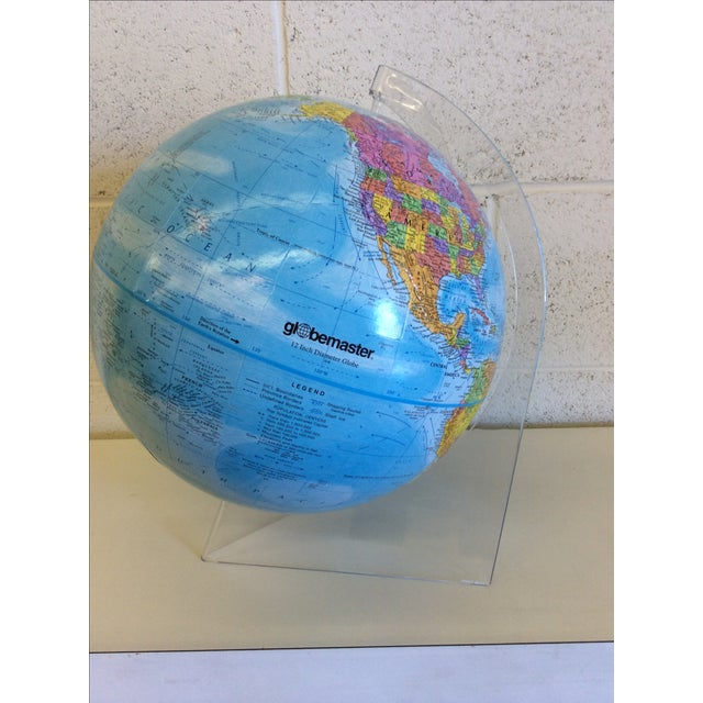 Globemaster 12 Inch World Globe With Acrylic Stand - Image 2 of 4