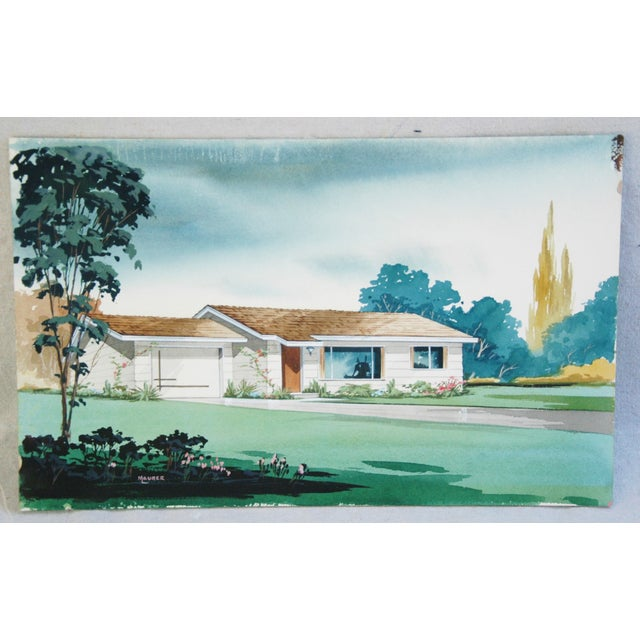 Architectural Watercolor by Bill Maurer - Image 4 of 4
