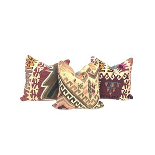 Geometric Turkish Kilim Pillows - Set of 3